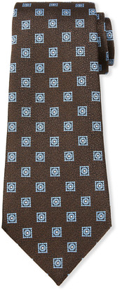 Ermenegildo Zegna Men's Circle & Boxes Silk Tie