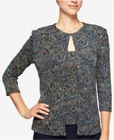 Alex Evenings Glitter Paisley Print Jacket & Shell