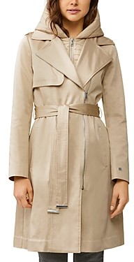 Soia & Kyo Athie Puffer-Bib Hooded Trench Coat