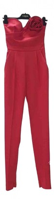 Valentino Red Wool Jumpsuits
