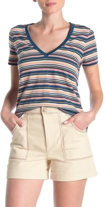 Madewell Frisbee Stripe V-Neck T-Shirt (Regular & Plus Size)