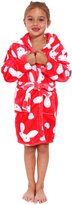 Simplicity Children's Hooded Robe w/ Animal Print Bath Accessory, M