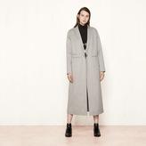 Maje Long double-sided wool coat
