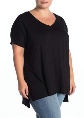 Angie V-Neck Tunic T-Shirt (Plus Size)