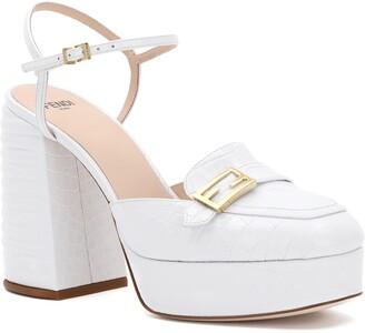 Fendi Promenade Block Heel Sandal