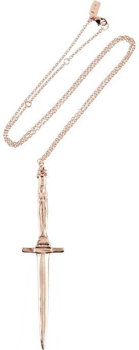 Pamela Love Rose gold-plated dagger necklace