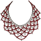 One Kings Lane Vintage Vrba Ruby and Rhinestone Bib Necklace