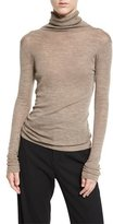 Vince Cowl Turtleneck Knit Sweater, Coffee