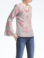 Banana Republic Floral Bell-Sleeve Blouse