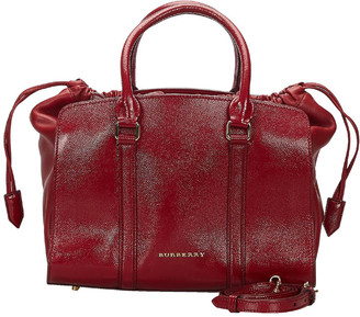 Burberry Red Leather Dinton Satchel