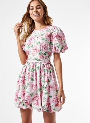 Miss Selfridge Millie Poplin Ruched Mini Dress