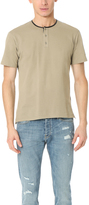 The Kooples Pique Tee with Faux Leather Detail