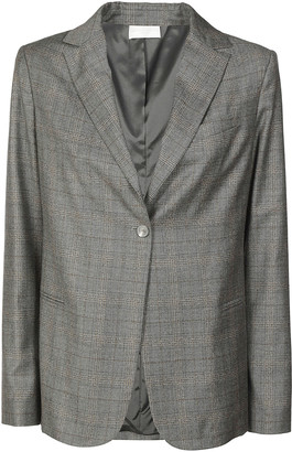Fabiana Filippi One Buttoned Check Blazer
