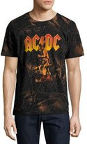 Eleven Paris AC/DC Bonfire T-Shirt with Marbling, Black
