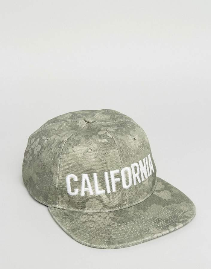 Hollister Logo Baseball Cap In Green Camo