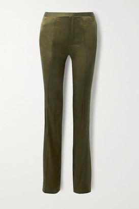 Haider Ackermann Silk-satin Straight-leg Pants - Dark green