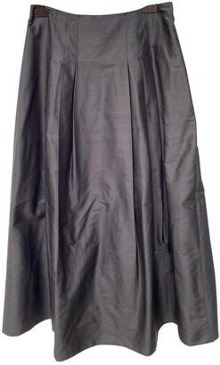 Sportmax Black Silk Skirt for Women