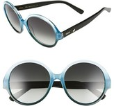 MCM Women's 58Mm Round Sunglasses - Azure/ Petrol Gradient