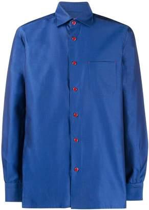 Kiton geometric twill shirt