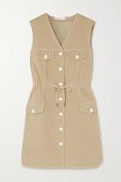 See by Chloe Drawstring Stretch-cotton Gabardine Dress