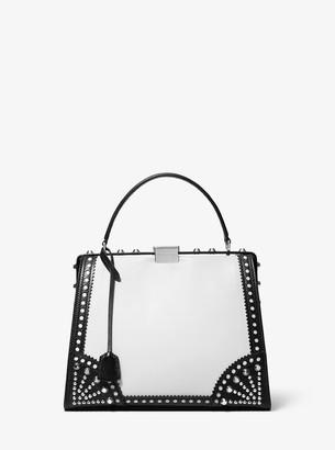 Michael Kors Simone Spectator Leather Top-Handle Bag