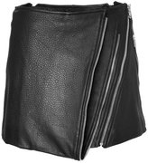 Barbara Bui Leather Mini-Skirt with Zip Detailing