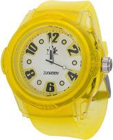 JCPenney ZUNAMMY Zunammy Mens Yellow Strap Sport Watch
