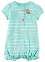 Carter's Striped Monkey Romper, Baby Girls (0-24 months)