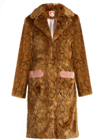 SHRIMPS Claude leopard-print faux-fur coat
