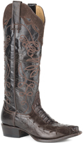 Stetson Brown & Chocolate Stitched Goat Leather Cowboy Boot