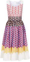 Jonathan Saunders Yvie Multicoloured Graphic Print Cotton Midi Dress