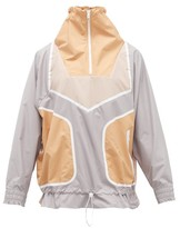 adidas by Stella McCartney Colour-block High-neck Windproof Jacket - Womens - Grey Multi