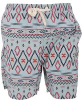Soul Star Soulstar Mens Array Aztec Pattern Swim Shorts