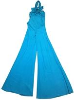 Valentino Turquoise Silk Jumpsuits