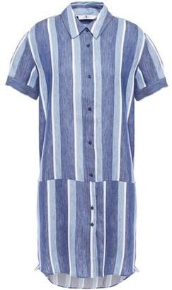 7 For All Mankind Striped Cotton-poplin Mini Shirt Dress