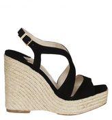 Paloma Barceló Braided Trim Wedge Sandals