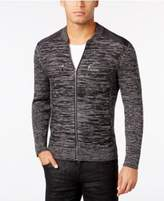 INC International Concepts Men's Manchester Heathered Mixed Media Sweater, Created for Macy's