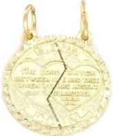FindingKing 14K Gold Mizpah Charm Jewish Friendship Jewelry 18mm