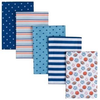 Gerber Baby Boys' 5-Pack Flannel Receiving Blanket