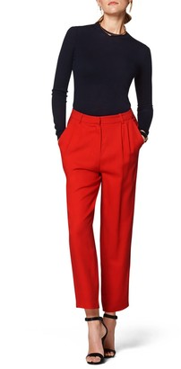 SUISTUDIO Dan Red High Rise Trousers