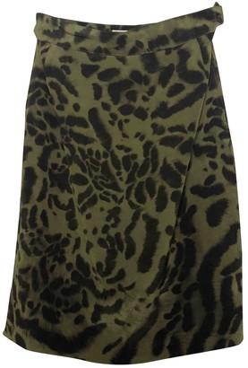 Genny Green Silk Skirt for Women Vintage