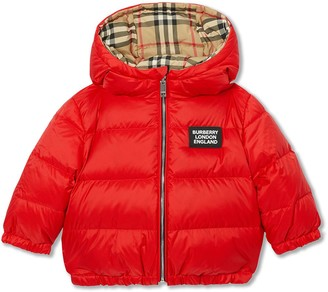 BURBERRY KIDS Reversible Vintage Check Down-filled Puffer Jacket