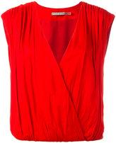Alice + Olivia Alice+Olivia - sleeveless wrap top - women - Viscose/Polyester/Spandex/Elastane - XS