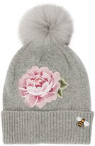 MonnaLisa Knit Hat W/ Fox Fur Pompom