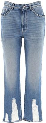 Alexander McQueen Cropped Boyfriend Jeans