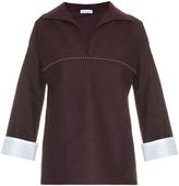 Tomas Maier Stud-detail cotton top