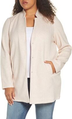 Vero Moda Curve Katrine Brushed Fleece Jacket