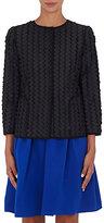Giorgio Armani Women's Wool-Blend Collarless Jacket-BLACK