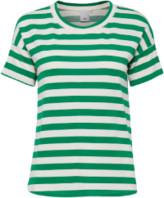 Ichi Grass Stripe Green T Shirt - L - White/Green