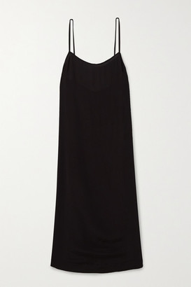 Haight Clara Crepe Midi Dress - Black